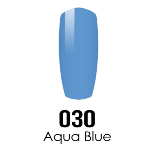 DC Nail Lacquer And Gel Polish (New DND), DC030, Aqua Blue, 0.6oz KK1108