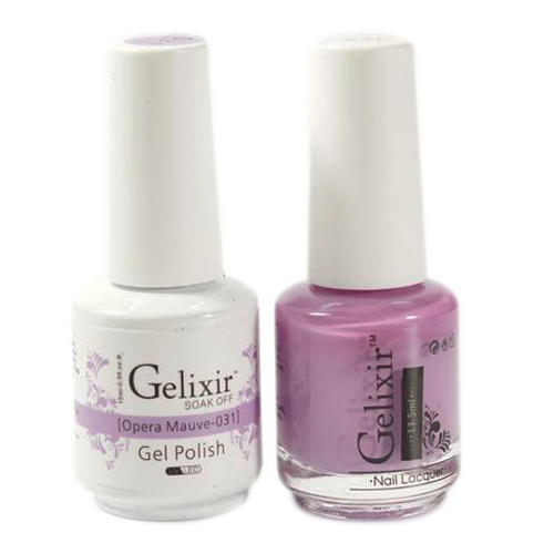 Gelixir Nail Lacquer And Gel Polish, 031, Opera Mauve, 0.5oz KK1010