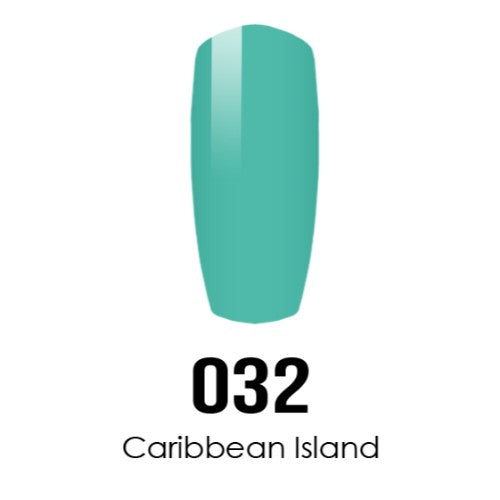 DC Nail Lacquer And Gel Polish (New DND), DC032, Caribbean Island, 0.6oz KK1108