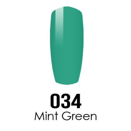 DC Nail Lacquer And Gel Polish (New DND), DC034, Mint Green, 0.6oz KK0918
