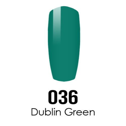 DC Nail Lacquer And Gel Polish (New DND), DC036, Dublin Green, 0.6oz KK1016
