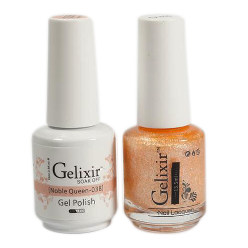 Gelixir Nail Lacquer And Gel Polish, 038, Noble Queen, 0.5oz KK1010