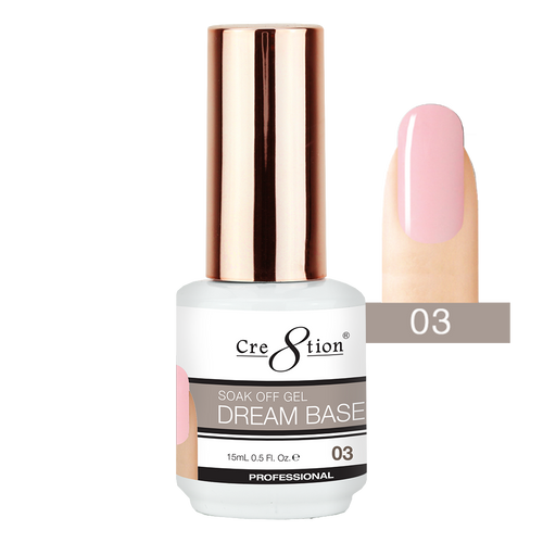 Cre8tion Dream Base Gel Polish, 0916-1561, 0.5oz, 03 KK0816