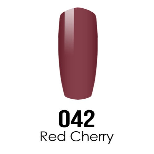 DC Nail Lacquer And Gel Polish (New DND), DC042, Red Cherry, 0.6oz KK1016