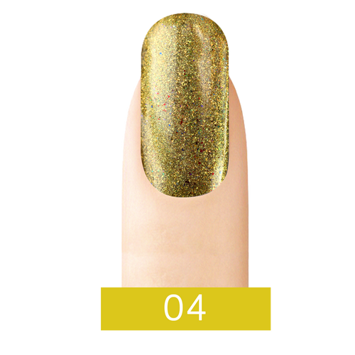 Cre8tion Chrome Nail Art Effect, 04 Gold, 1g