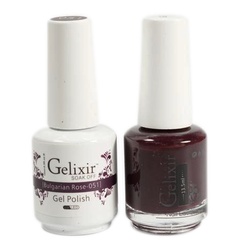 Gelixir Nail Lacquer And Gel Polish, 051, Bulgarian Rose, 0.5oz KK1010