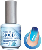 LeChat Mood Perfect Match Color Changing Gel Polish, MPMG05, A Bit Chilly, 0.5oz KK0823 BB
