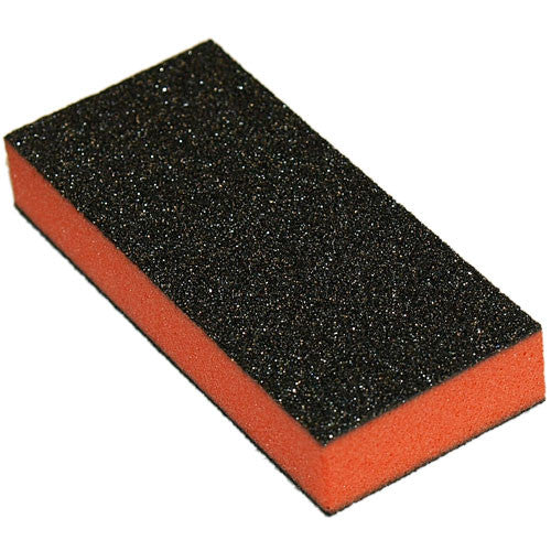 Cre8tion Buffer 2-Way Orange Foam, Black Grit 80/100, 500 pcs/box, 06021