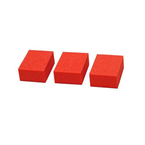 Cre8tion Buffer 2-Way Mini 1/3 Orange Foam, White Grit 100/180, 1500 pcs/box, 06027 KK1217