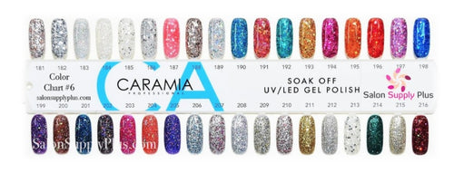 Caramia Nail Lacquer And Gel Polish Tips Sample, #06, From 181 To 216 KK