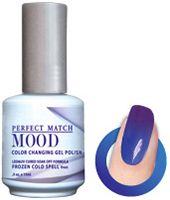 LeChat Mood Perfect Match Color Changing Gel Polish, MPMG06, Frozen Cold Spell, 0.5oz KK0823 BB