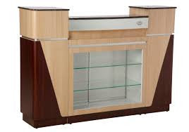 SPA Reception Desk, Ash/Rosewood/Aluminum, C-06ARA (NOT Included Shipping Charge)