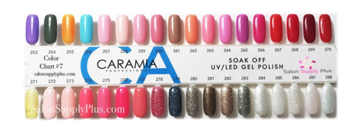 Caramia Nail Lacquer And Gel Polish Tips Sample, #08, From 253 To 288 KK