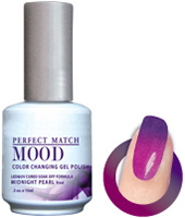 LeChat Mood Perfect Match Color Changing Gel Polish, MPMG07, Midnight Pearl, 0.5oz KK0828