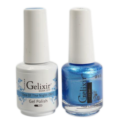 Gelixir Nail Lacquer And Gel Polish, 081, Sea Of Night, 0.5oz KK1010