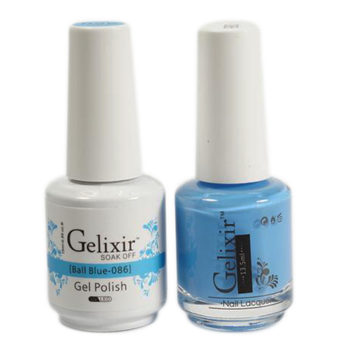 Gelixir Nail Lacquer And Gel Polish, 086, Ball Blue, 0.5oz KK1010