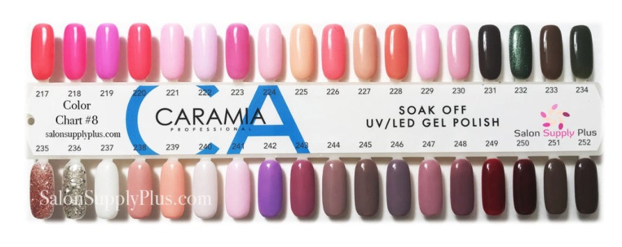 Caramia Nail Lacquer And Gel Polish Tips Sample, #07, From 217 To ...