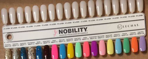 LeChat Nobility Gel Tips Sample, #02, NBGP037- NBGP072