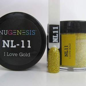Nugenesis Dipping Powder, NL 011, I Love Gold, 2oz KK1003