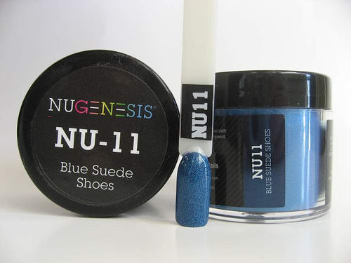 Nugenesis Dipping Powder, NU 011, Blue Suede Shoes, 2oz KK1003