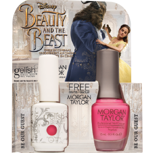 Gelish Gel Polish & Morgan Taylor Nail Lacquer, 1110248, Beauty And The Beast Collection, Be Our Guest, 0.5oz BB KK