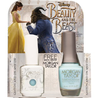 Gelish Gel Polish & Morgan Taylor Nail Lacquer, 1110250, Beauty And The Beast Collection, Gaston and on and on, 0.5oz BB KK