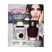 Gelish Gel 4, 1110281, Thrill Of The Chill Collection, Let's Kiss & Warm Up, 0.5oz KK