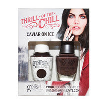 Gelish Gel 4, 1110283, Thrill Of The Chill Collection, Caviar On Ice, 0.5oz KK
