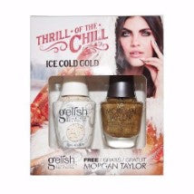 Gelish Gel 4, 1110285, Thrill Of The Chill Collection, Ice Cold Gold, 0.5oz KK