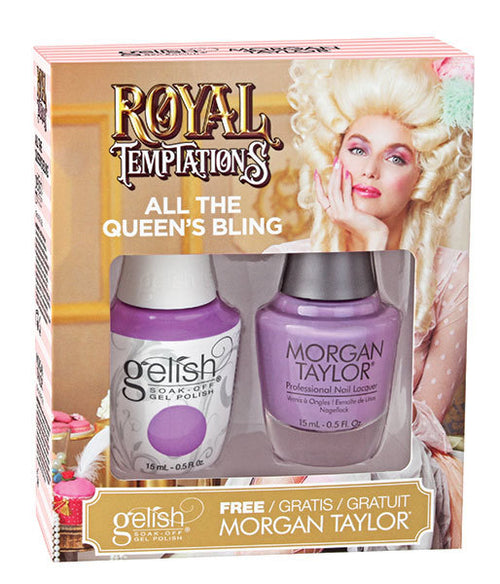 Gelish Gel 3, 1110295, Royal Temptations Collection, All The Queen's Bling, 0.5oz KK