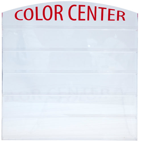 "Cre8tion Acrylic Wall-mounted Rack ""Color Center"", 60 pcs, 10117 BB"