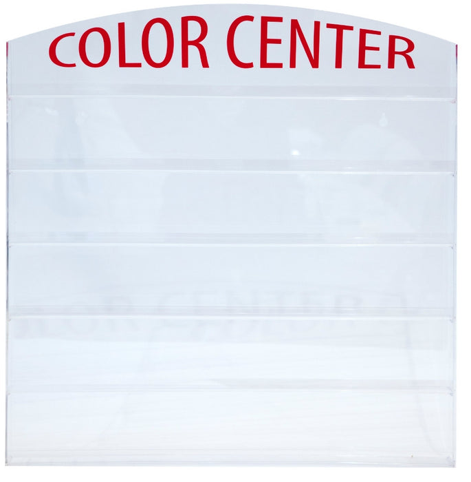 "Cre8tion Acrylic Wall Mounted Rack ""Color Center"", 72 bottles, 10118 (Packing: 10pcs/case) OK0401VD"