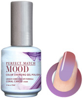 LeChat Mood Perfect Match Color Changing Gel Polish, MPMG11, Coral Caress, 0.5oz KK0823 BB