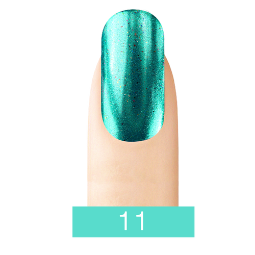 Cre8tion Chrome Nail Art Effect, 11 Turquoise, 1g