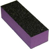 Cre8tion 3-Way Buffer (Made In USA), Purple Foam, Black Grit 60/100, 06032 (Packing: 500 pcs/case)