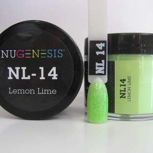 Nugenesis Dipping Powder, NL 014, Lemon Lime, 2oz KK1003
