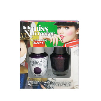 Gelish Gel 5, 1110275, Little Miss Nutcracker Collection, Plum-thing Magical, 0.5oz BB KK