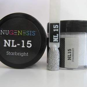 Nugenesis Dipping Powder, NL 015, Starbright, 2oz KK1003