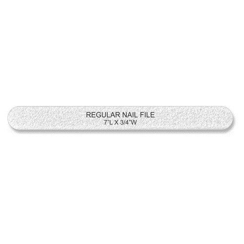 Cre8tion Nail Files REGULAR WHITE Sand, Grit 100/100, 40pks/case, 50pcs/pack, 07011