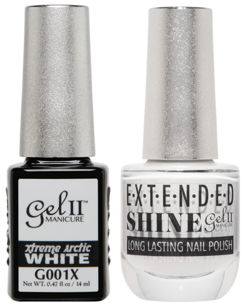 Gel II Manicure And Extended Shine, G001X, Arctic White, 0.47oz KK