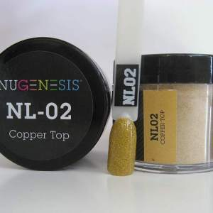 Nugenesis Dipping Powder, NL 002, Copper Top, 2oz KK1009