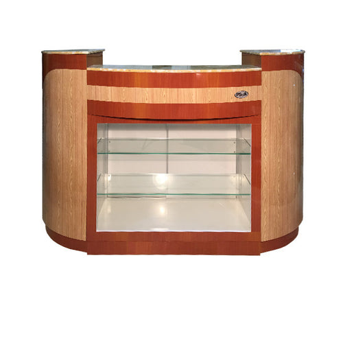 SPA Reception Desk, Maple/Oak, C-209MO (NOT Included Shipping Charge)