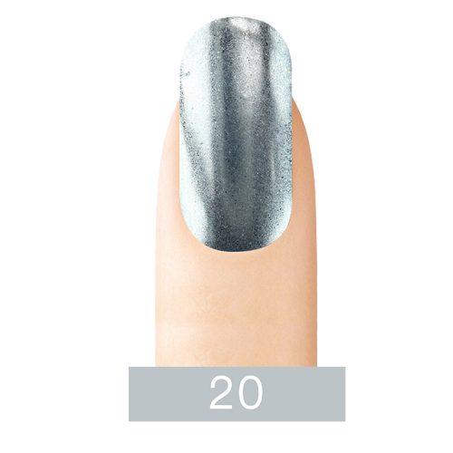 Cre8tion Chrome Nail Art Effect, 20 Super Silver, 1g