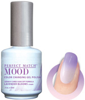 LeChat Mood Perfect Match Color Changing Gel Polish, MPMG20, Lavender Blooms, 0.5oz KK0823 BB