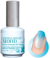 LeChat Mood Perfect Match Color Changing Gel Polish, MPMG21, Angelie Dreams, 0.5oz KK0823 BB