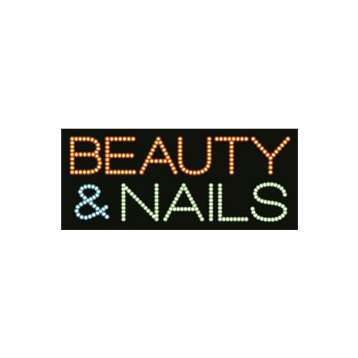 "Cre8tion LED Signs ""Beauty & Nails"", B#0601, 23005 KK BB"