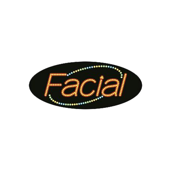 "Cre8tion LED Signs ""Facial #4"", F#0105, 23015 KK BB"