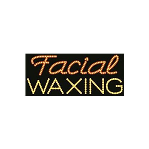 "Cre8tion LED Signs ""Facial Waxing #2"", F#0201, 23017 KK BB"