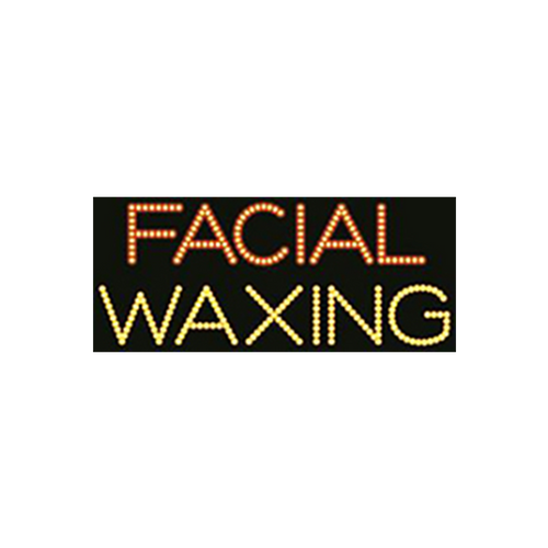 "Cre8tion LED Signs ""Facial Waxing #3"", F#0202, 23018 KK BB"