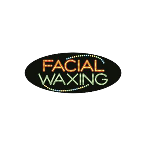 "Cre8tion LED Signs ""Facial Waxing #4"", F#0203, 23019 KK BB"